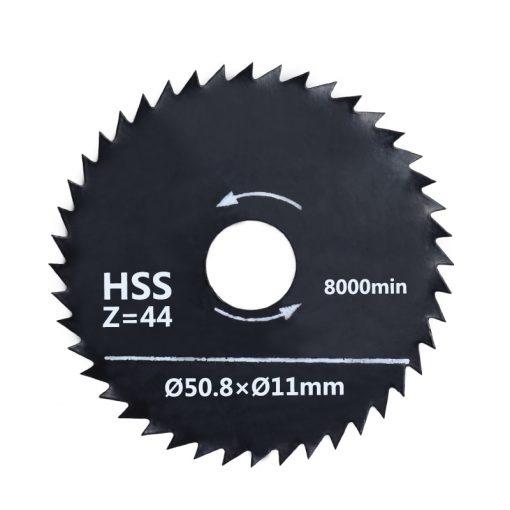 HSS Saw Blade 50.8x11mm 44 Teeth with 6mm Mandrel Nirtide Coated Circular Cutting Disc