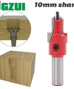1pcs 10mm Shank HSS Woodworking Countersink Router Bit Set Screw Extractor Remon Demolition for Wood Milling Cutter