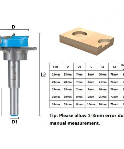 Forstner Drill Bit 15-35mm Carbide Tipped Drill Bit Set Adjustable Core Drill Boring Bit Woodworking Hole Cutter