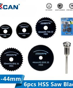 XCAN HSS Rotary Tools Circular Saw Blades 22/25/30/35/44mmwith 3mm Mandrel Mini Cut off Blade Wood Metal Cutting Disc