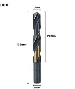 Reduced Shank Drill Bit 14-25mm Twist Drill Bit HSS Hole Cutter Metal Drill