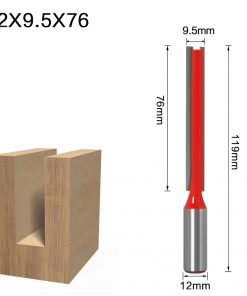 1PC 12mm Shank high quality Short Straight/Dado Router Bit Set 6,8,10,12,14,16,19,20,22 Diameter Wood Cutting Tool