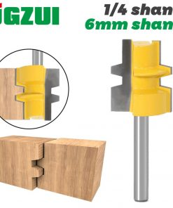 """Glue Joint Router Bit - Medium Reversible - 1/4""""6mm Shank - Woodworking cutter Tenon Cutter for Woodworking Tools"""