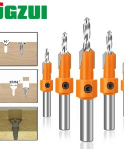 1pc 8mm Shank HSS Woodworking Countersink Router Bit Screw Extractor Remon Demolition for Wood Milling Cutter