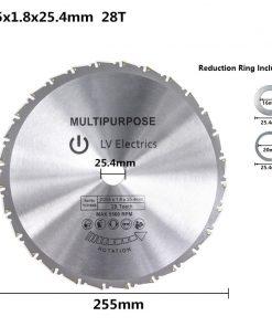 Wood Cutting Saw Blade 250/255/300mm Circular Saw Disc 28/40/60/80 Teeth TCT Multi Tool Blades Carbide Tipped Saw Blade