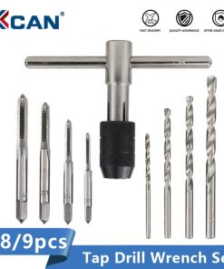 XCAN Tap Wrench Set 6/8/9pcs Hand Tapping Tool Holder Twist Drill Bit Screw Tap Drill Metalworking Threading Tool