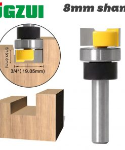 JGZUI 1pc Template Trim Hinge Mortising Router Bit - 8mm Shank Woodworking cutter Tenon Cutter for Woodworking Tools