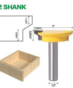 "JGZUI Drawer Front Joint Router Bit - Reversible - 1/2"" Shank 12mm Shank Woodworking Chisel Cutter"