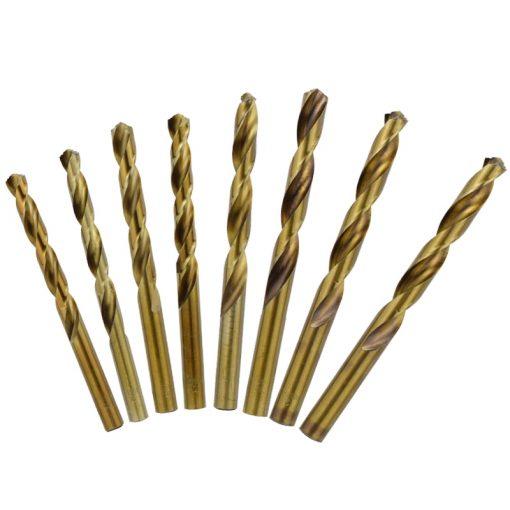 Twist Drill Bit 13 19 25pcs 3 Edge HSS Gun Drill Bit for Stainless Steel Metal Cobalt Coated M42 Hole Drilling