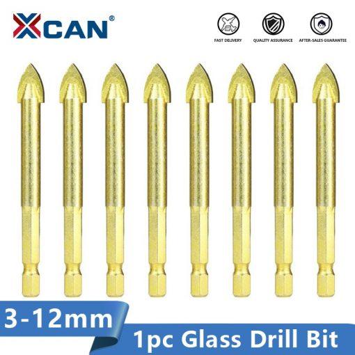 XCAN Glass Tile Drill Bit 3/4/5/6/8/10/12mm Hex Shank Gun Drill Bit Carbide Wall Hole Cutter