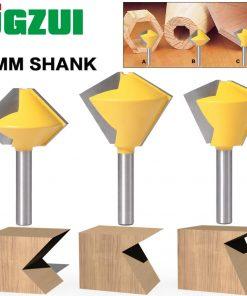1PC 8mm Shank 6 Sided 8 Sided 12 Sided 6 Sided Multi Sided Glue Joint Router Bit Set