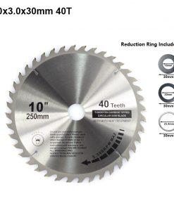 XCAN 1pc 185/210/250mm 60T/80T TCT Wood Circular Saw Blade Wood Cutting Disc Carbide TCT Saw Blade