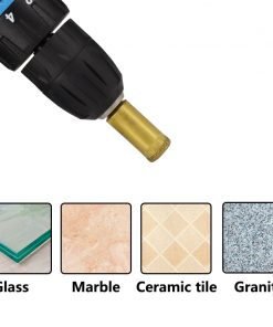 XCAN Ti-Coated Diamond Drill Bit 7pcs 5/6/8/10/12/14/16mm for Glass Tile Marble Granite Hole Core Cutter Drill Bit
