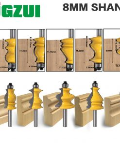 1PC 8mm Shank Casing & Base Molding Router Bit Set CNC Line knife Woodworking cutter Tenon Cutter for Woodworking Tools