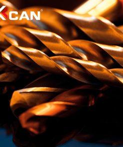 XCAN Twist Drill Bit Set 1.0-13mm Titanium Coated Metal Gun Drill Hole Cutter Power Tools Accessories HSS Wood Metal Drill Bit