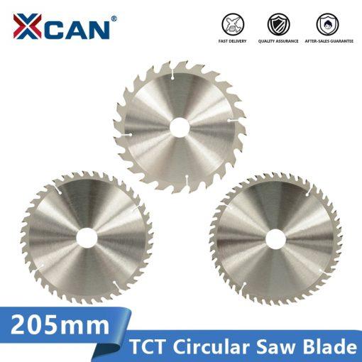XCAN 205mm Saw Blade Wood Cutting Disc 24 40 48T Carbide Tipped Circular Saw Disc Wood Saw Blade