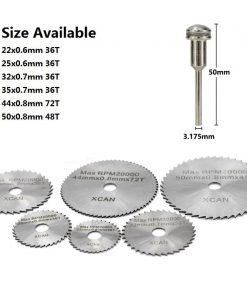 3.175mm Shank HSS Rotary Tools Circular Saw Blades Cutting Discs with Mandrel Cut off Mini Saw Blade