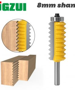 """8mm Shank Raised panel""""V""""joint Bits Finger Joint Glue Milling Cutter for Wood Tenon Woodwork Cone Tenon Milling Tenoning Machine"""