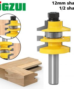 "1PC 1/2"" 12mm Shank Bevel Stacked Rail and Stile Router Bit Wood Cutting Tool woodworking router bits"