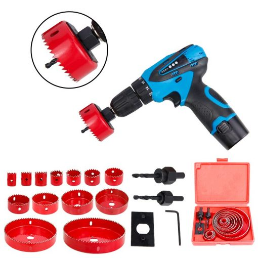 XCAN Hole Saw Set 5/8/13pcs 19-127mm Wood Metal Drilling Tools Hole Core Cutter Hole Saw Drill