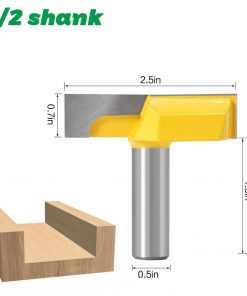 "1/2"" Inch 12mm Shank 2-1/4"" Bottom Cleaning Router Bit (Mortising Bit, Spoil board Surfacing, Slab Flattening Woodworking Mil"