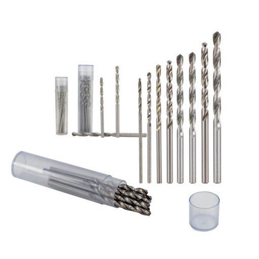 XCAN Twist Drill Bit Set 8pcs 0.8 0.9 1.0 1.1 1.2 1.3 1.4 1.5mm Wood Metal Hole Cutter HSS Mini Drill Gun Drill Bit
