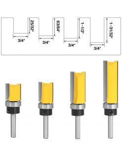 """1pcs 6mm 1/4inch Shank Flush Trim Router Bit Pattern Bit Top Bottom Bearing 3/4"""" Blade Template Wood Milling Cutter Carpenter"""