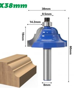 1pc High Quality Double Roman Ogee Edging Router Bit - Large - 8mm shank Dovetail Router Bit Cutter wood working
