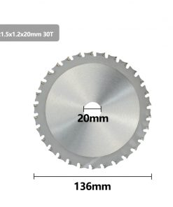 Metal Cutting Disc 136 165mm Carbide Tipped Saw Blade for Iron Steel 30 40T Circular Metal Cutting Blade