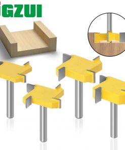 6mm 1/4inch Shank Flush trim bit Z4 Milling Straight Edge Slotting Milling Cutter Cutting Handle for Wood Woodwork