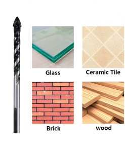 Tungsten Carbide Drill Bit 6mm 8mm for Porcelain Ceramic Tile,Concrete,Brick,Glass,Plastic Masonry and Wood Gun Drill Bit