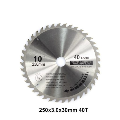 1pc 250mm 40T High Quality Carbide Woodworking Saw Blade with 30mm Bore Wood Cutting Disc TCT Circular Saw Blade