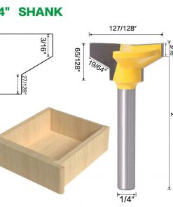 "1/4"" Shank 6mm shank Reversible Drawer Front Router Bit For Woodworking Cutter Tool Milling Cutter"