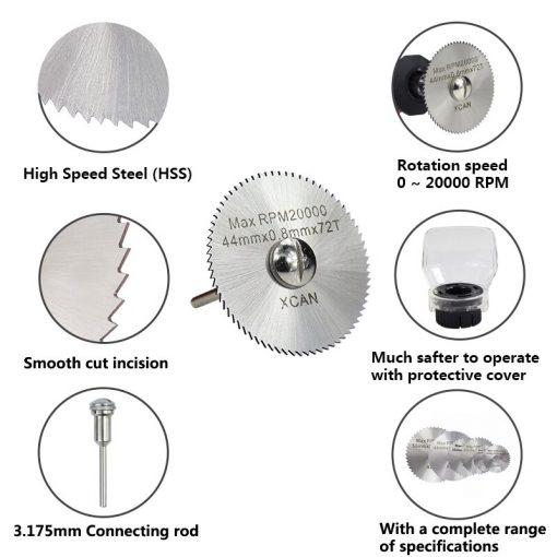 HSS Mini Saw Blade Circular Cutting Disc Power Tools Accessories Wood Metal Cutting Blade