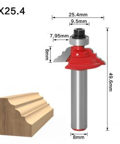 "1Pc Table Edge Router Bit - French Baroque 8"" Shank Line knife Woodworking cutter Tenon Cutter for Woodworking Tools"