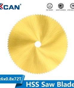 Titanium Coated HSS Saw Blade 60mm 72 Teeth Wood Metal Cutting Disc for Rotary Tools Mini Circular Saw Blade
