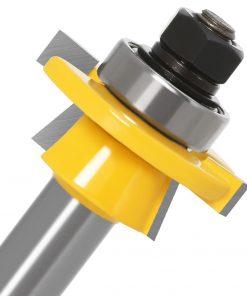 "JGZUI 2pcs 12mm 1/2"" Shank Shaker Rail & Stile Router Bits Set Carbide Door Knife Woodworking Tenon Cutter Tools For Wood"