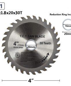 TCT Woodworking Circular Saw Blades 1pc 4'' 30/40 Teeth Multipurpose Wood Saw Blade Cutting Disc