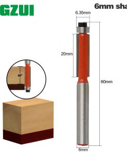 """1pcs 6mm"""" Shank Flush Trim Router Bits for wood Trimming Cutters with bearing woodworking tool endmill milling cutter"""