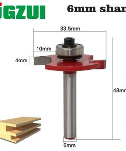"""1pc 6mm Shank High Quality """"T"""" Type Biscuit Joint Slot Cutter Jointing/Slotting Router Bit 3mm,4mmHeight Cutter wood working"""