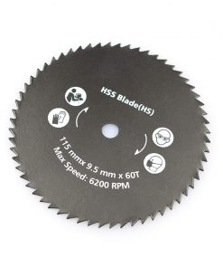 1pc 115x9.5mm 60T Nitride Coated Circular Saw Blade For Power Tools Wood Cutting Disc