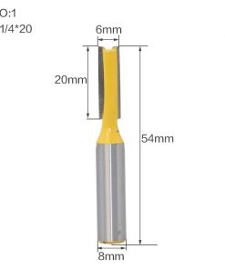 "1 pc Straight/Dado Router Bit - 3/8""W x 1""H - 8"" Shank Woodworking cutter Wood Cutting Tool"