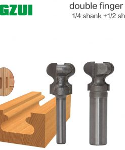"1/2"" Shank1/4 shank Router Bits for Wood Industrial Grade Double Finger Bit Woodworking Tools Wood Milling Cutter End MilL"