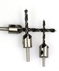 3mm-10mm HSS Countersink Drill Bit Set Reamer Woodworking Chamfer Drill Counterbore Pliot Hole Cutter Screw Hole Drill