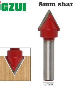 1pcs 8mm Shank60 wood router bit Straight end mill trimmer cleaning flush trim corner round cove box bits tools