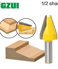 """1pc Panel Raiser Router Bit - Vertical - Bevel Design - 1/2"""" 12mm Shank Woodworking cutter Tenon Cutter for Woodworking Tools"""