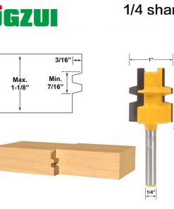 """Glue Joint Router Bit - Medium Reversible - 1/4"""" Shank - Woodworking cutter Tenon Cutter for Woodworking Tools"""