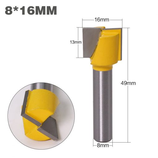 1pc 8mm Cleaning bottom Engraving Bit solid carbide router bit Woodworking Tools CNC milling cutter endmill for wood