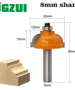 "1 PC8mm"" Shank Round over and Beading Edging Router Bit Set C3 Carbide Tipped Tenon Cutter for Woodworking Tools"