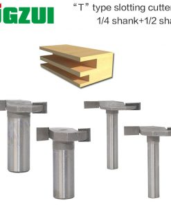 1pcs 1/4and1/2 Shank T type slotting cutter router bits for woodworking T-slot milling cutter woodworking tools